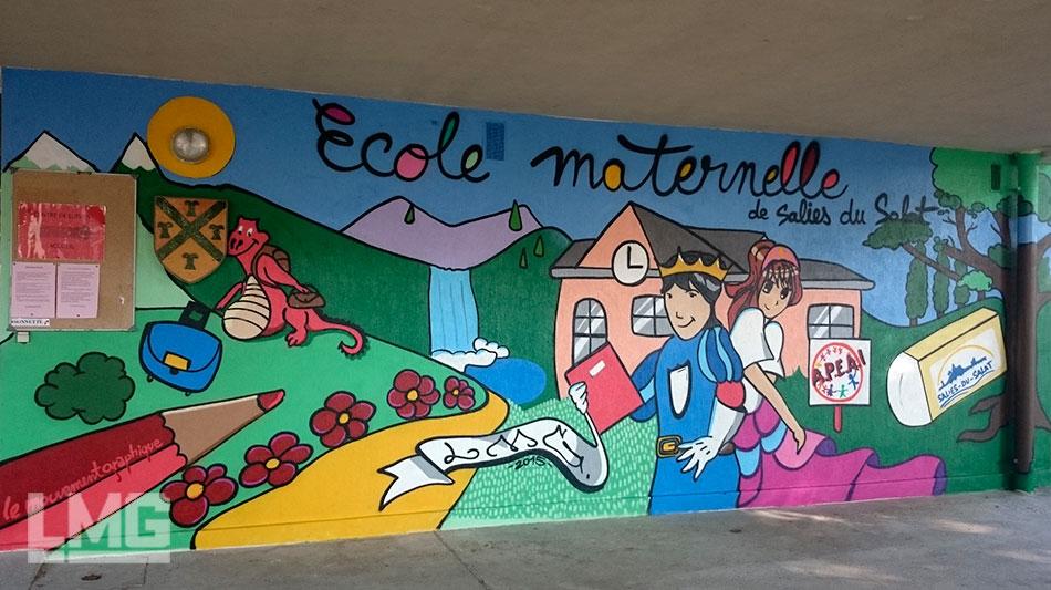 souvent Décorations mur extérieur façade graffiti artiste YQ05